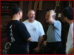 Hatsumi Soke and Phil-Sensei at the home dojo in Japan